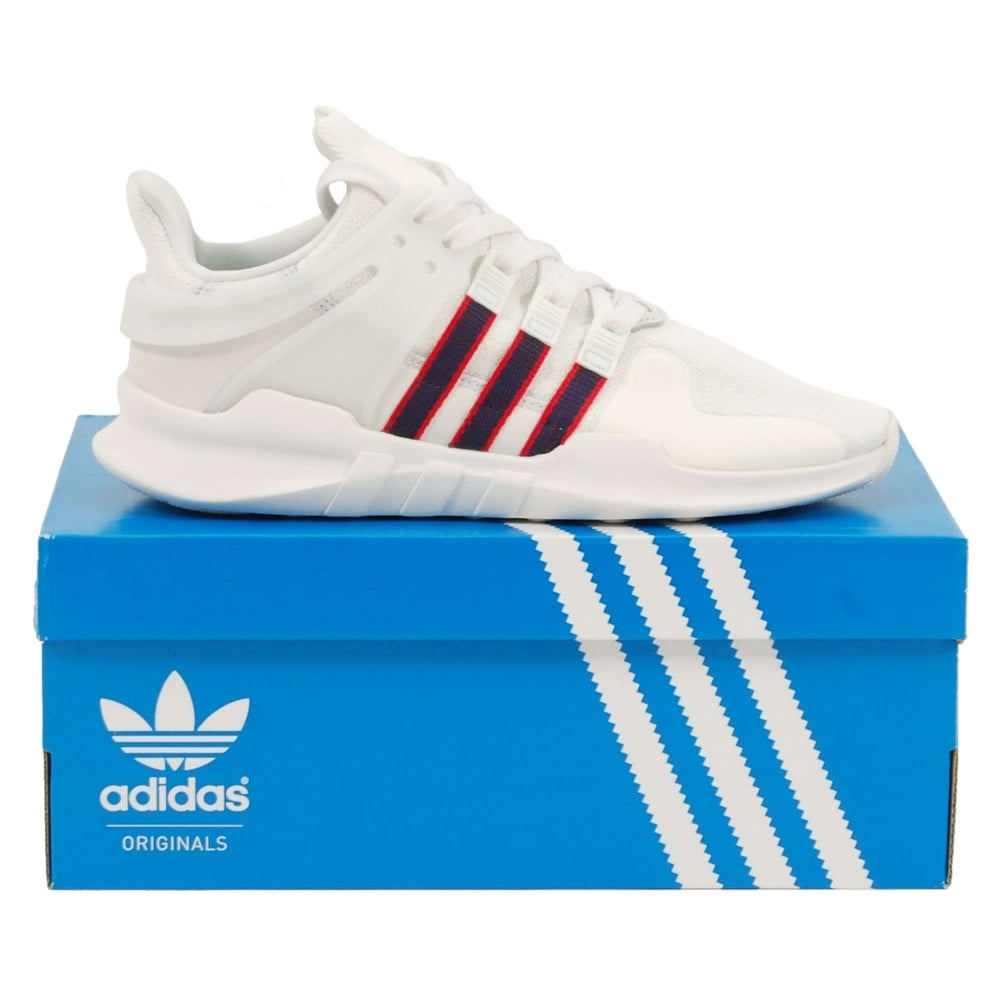 quality design 05a62 5472b EQT Support ADV Crystal White Collegiate Navy Scarlet