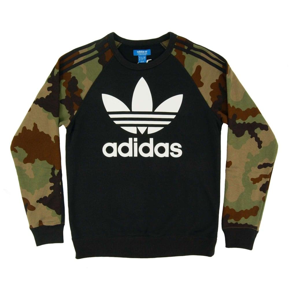 adidas Originals Sweater ES Crew BlackEarth Khaki