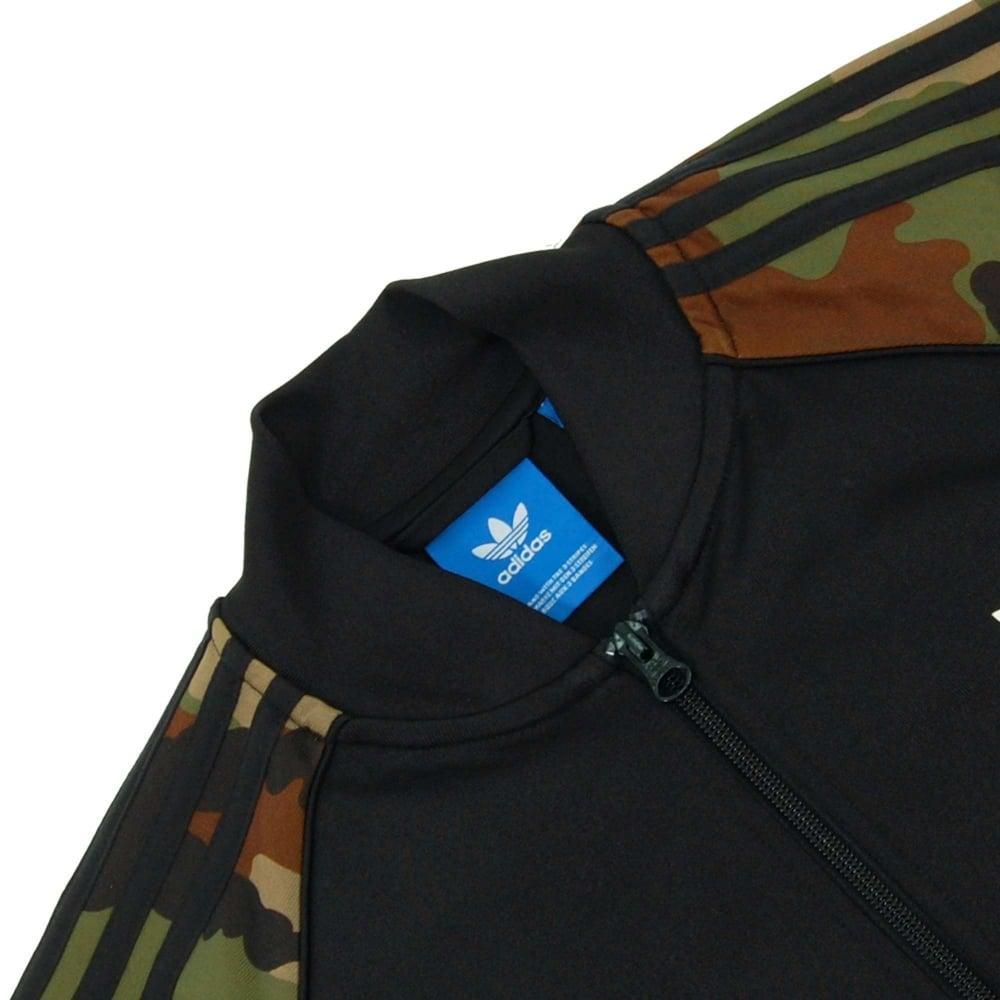 Adidas Originals Es Superstar Camo Track Top Black Earth Khaki