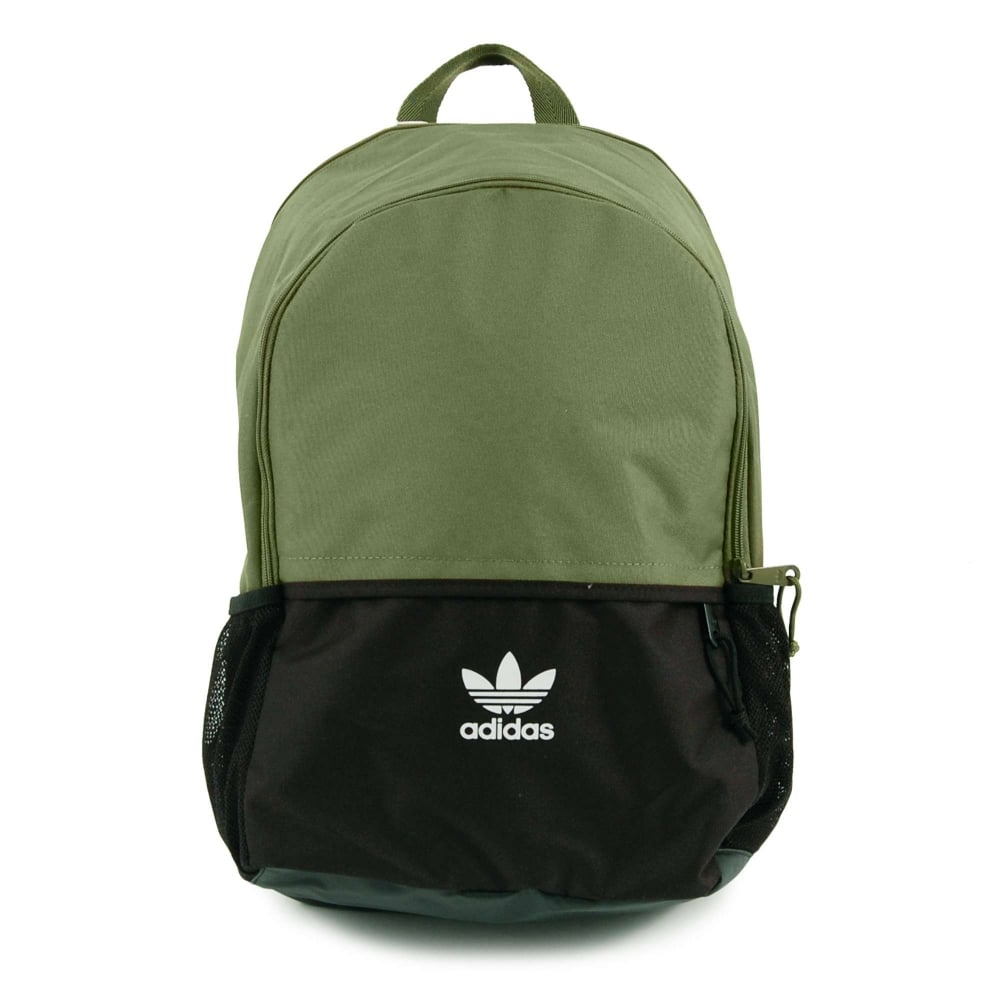 Adidas Originals Essential Backpack Olive Cargo Black - Mens ... 5003081395