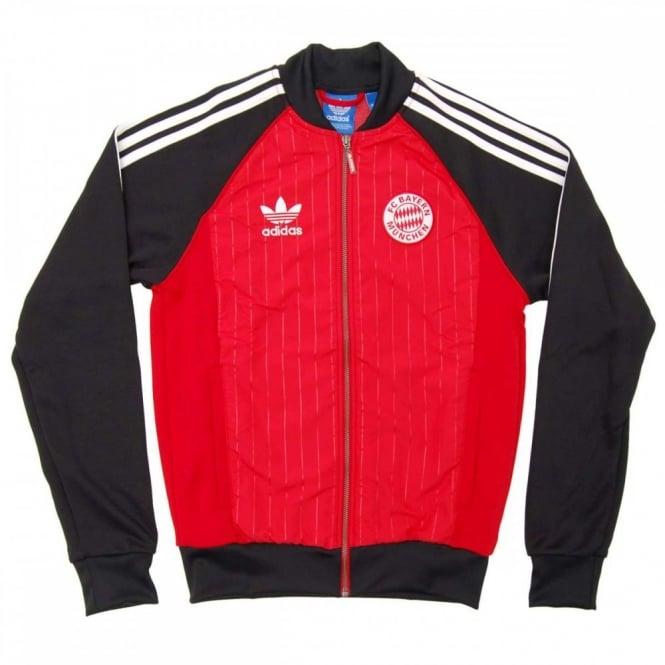 87cd0647ec2b Adidas Originals FC Bayern München Superstar Track Top Scarlet Black ...