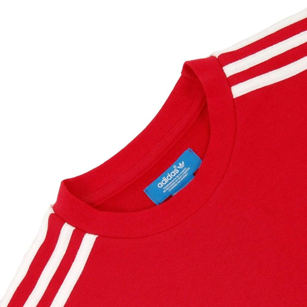 Adidas Originals FC Bayern Munchen Crew Sweatshirt Red Hero Ink White