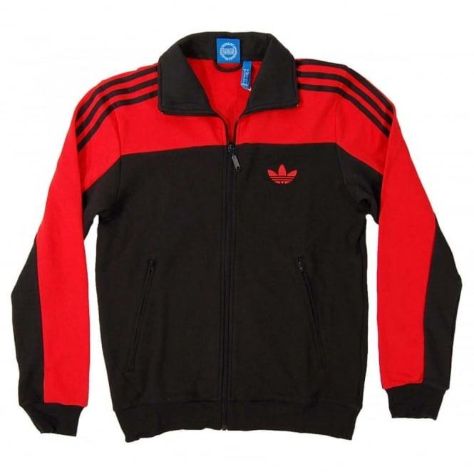596f6f8bb6a Adidas Originals Firebird Track Top Black High Res Orange - Mens ...
