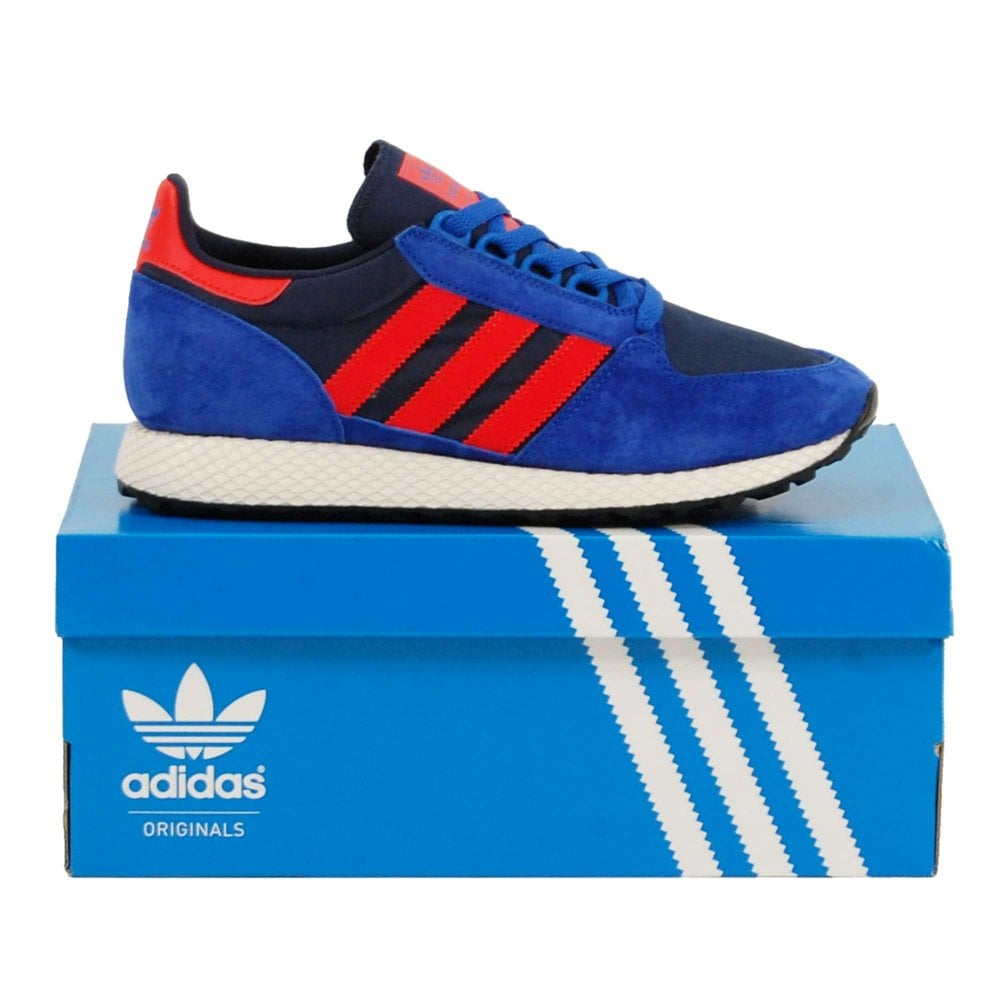 094194eaa4240c Adidas Originals Forest Grove Power Blue Hi-Res Red Collegiate Navy - Mens  Clothing from Attic Clothing UK