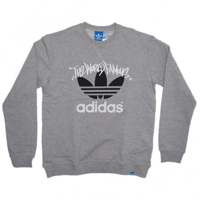 Adidas Originals G Sweat Tag Heather Grey Mens Clothing From Attic