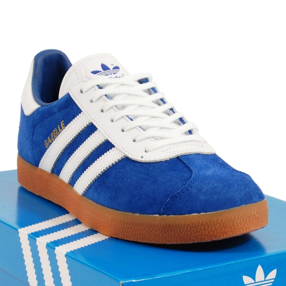 reputable site classic shoes exclusive shoes Adidas Originals Gazelle Collegiate Royal Footwear White Gum