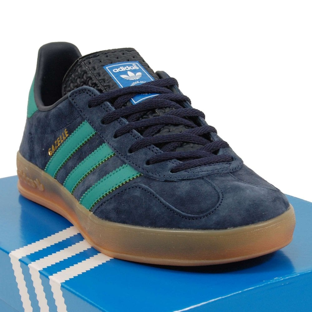 good selling quality products buy online Adidas Originals Gazelle Indoor Collegiate Navy Active Green Bluebird Gum