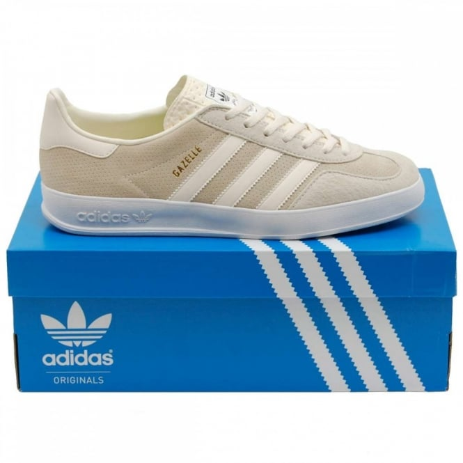 adidas originals gazelle indoor cream white mens. Black Bedroom Furniture Sets. Home Design Ideas