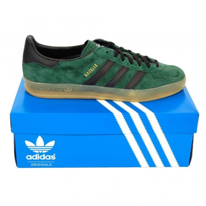 Adidas Originals Gazelle Indoor Shoes Dark Green Black