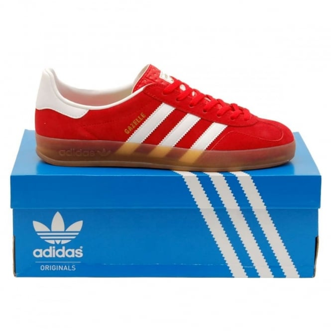 Adidas Originals Gazelle Indoor Red Core White Gum - Mens Clothing ... 3ffa9db6ea4e