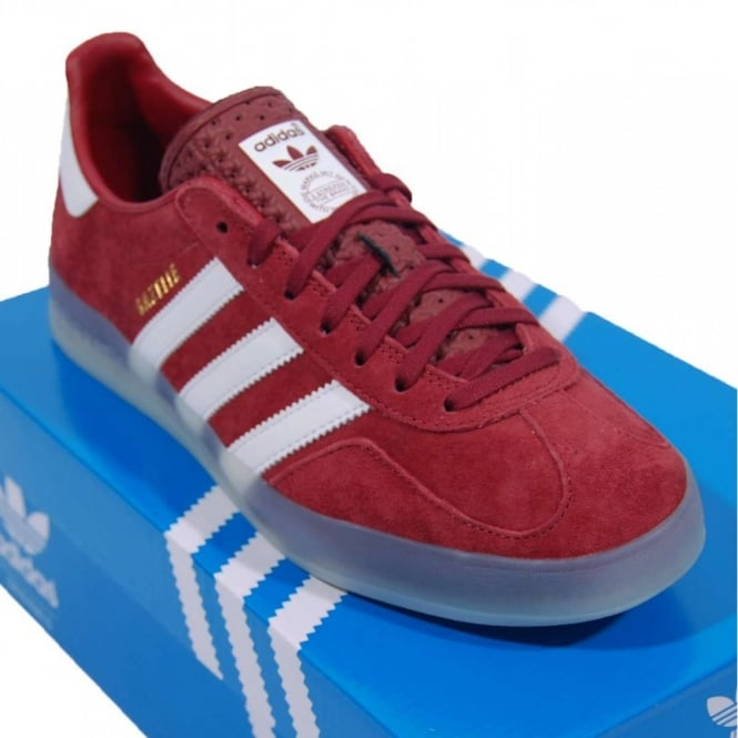 Adidas Originals Mens Gazelle Indoor Trainers Nomad Red/White