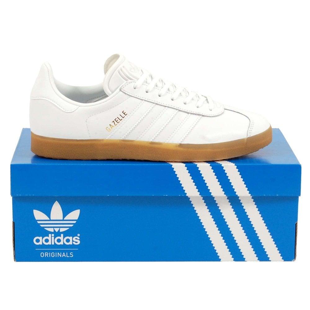 Adidas Originals Gazelle Leather Footwear White Gum
