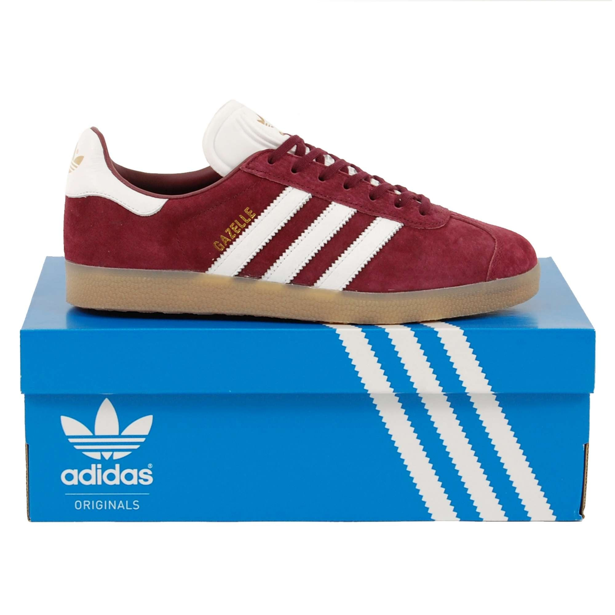 Y Cesta búnker  Gazelle Maroon White Metallic Gold - Mens Clothing from Attic Clothing UK