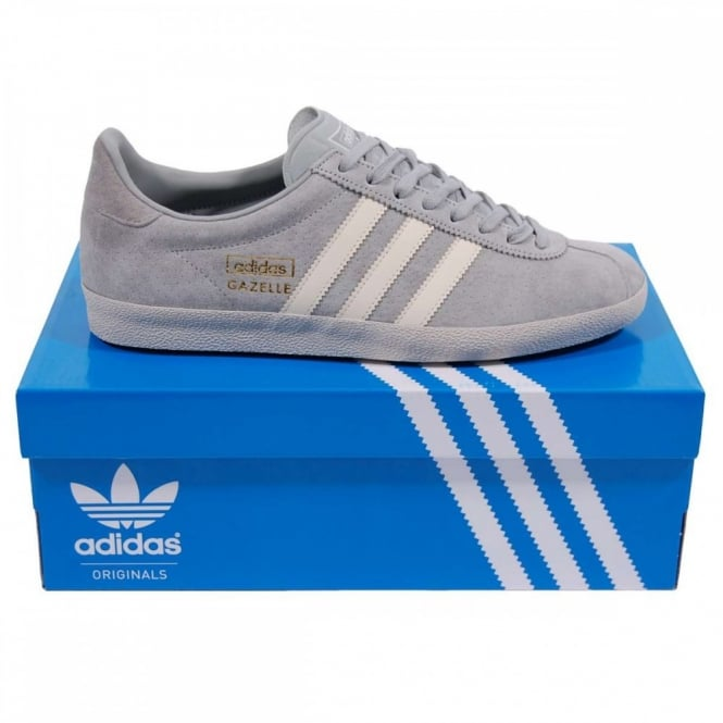 Adidas Originals Gazelle OG Perforated Solid Grey Chalk White - Mens ... 718d35833