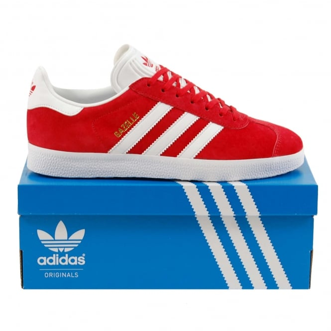 Adidas Originals Gazelle Scarlet White