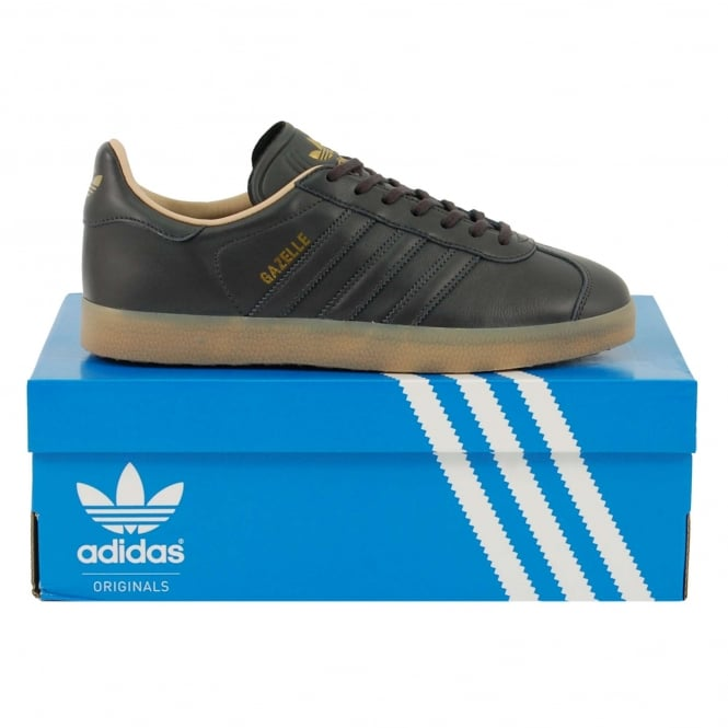 Adidas Originals Gazelle Utility Black Gold Metallic