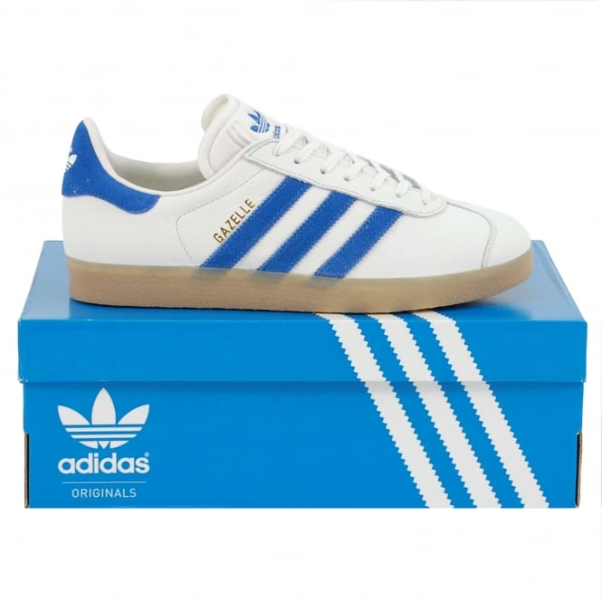 Adidas Originals Gazelle Vintage White Bold Blue Gum