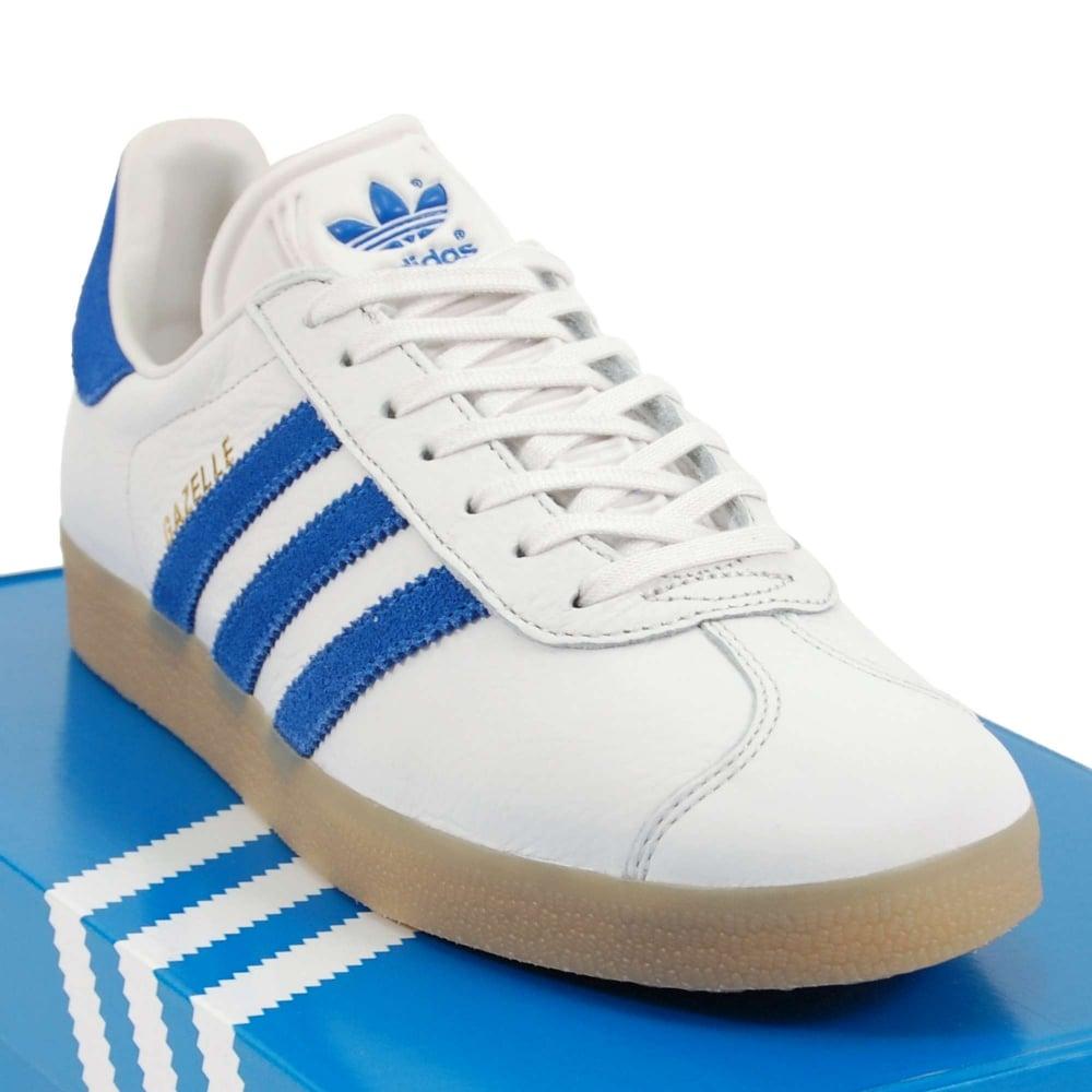 adidas originals gazelle white bold blue