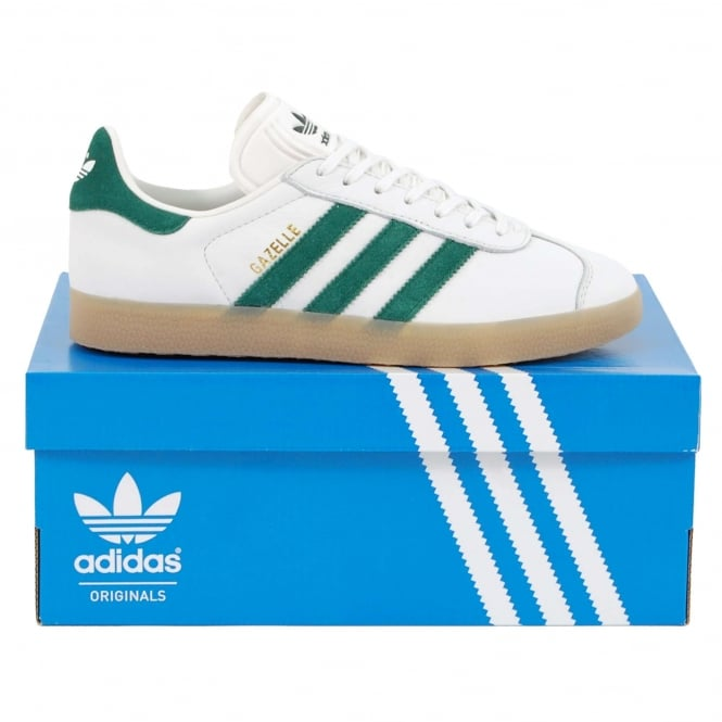 Adidas Originals Gazelle Vintage White Collegiate Green Gum - Mens ... 6e9f43811
