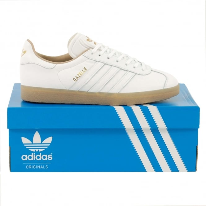 Adidas Originals Gazelle White Metallic Gold