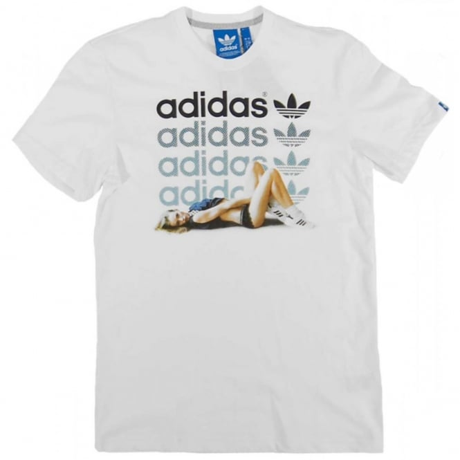 0ed7ce3c3 Adidas Originals Girl T-Shirt White - Mens Clothing from Attic ...