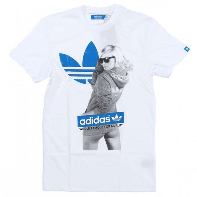 nouveau style c48e5 74b87 Adidas Originals Girl T-Shirt White