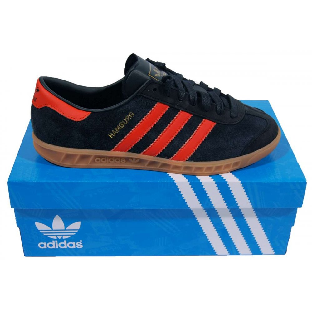 Lugar de la noche a la deriva doblado  Adidas Originals Hamburg Brussels Core Black Collegiate Orange ...