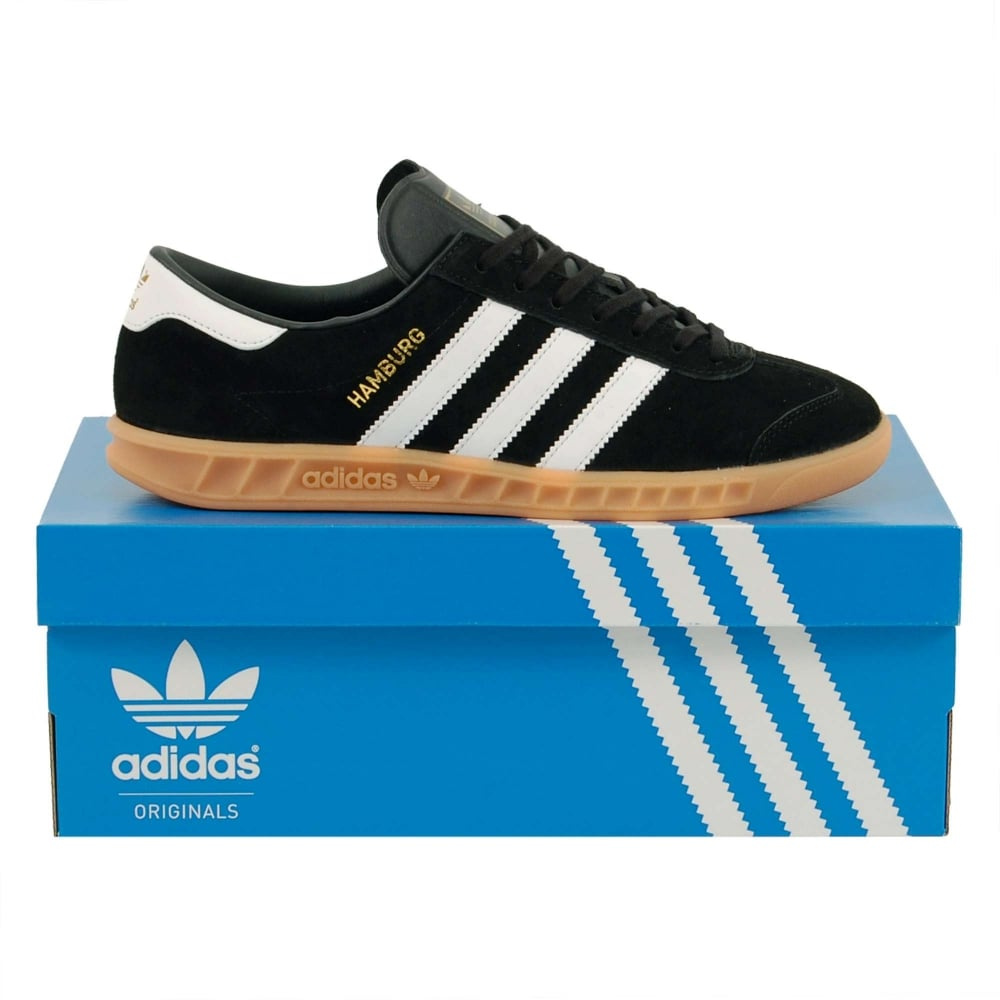 Adidas Originals Hamburg Core Black White Gum