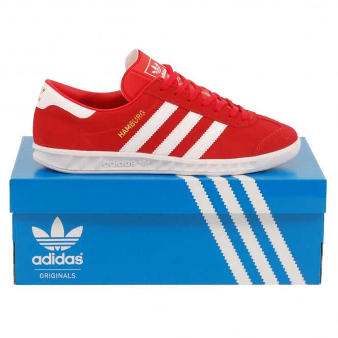Adidas Originals Hamburg Red White