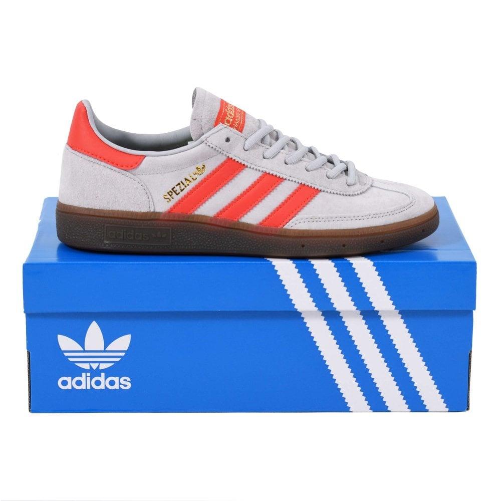 Adidas Originals Handball Spezial Grey Two Hi Res Red Gum