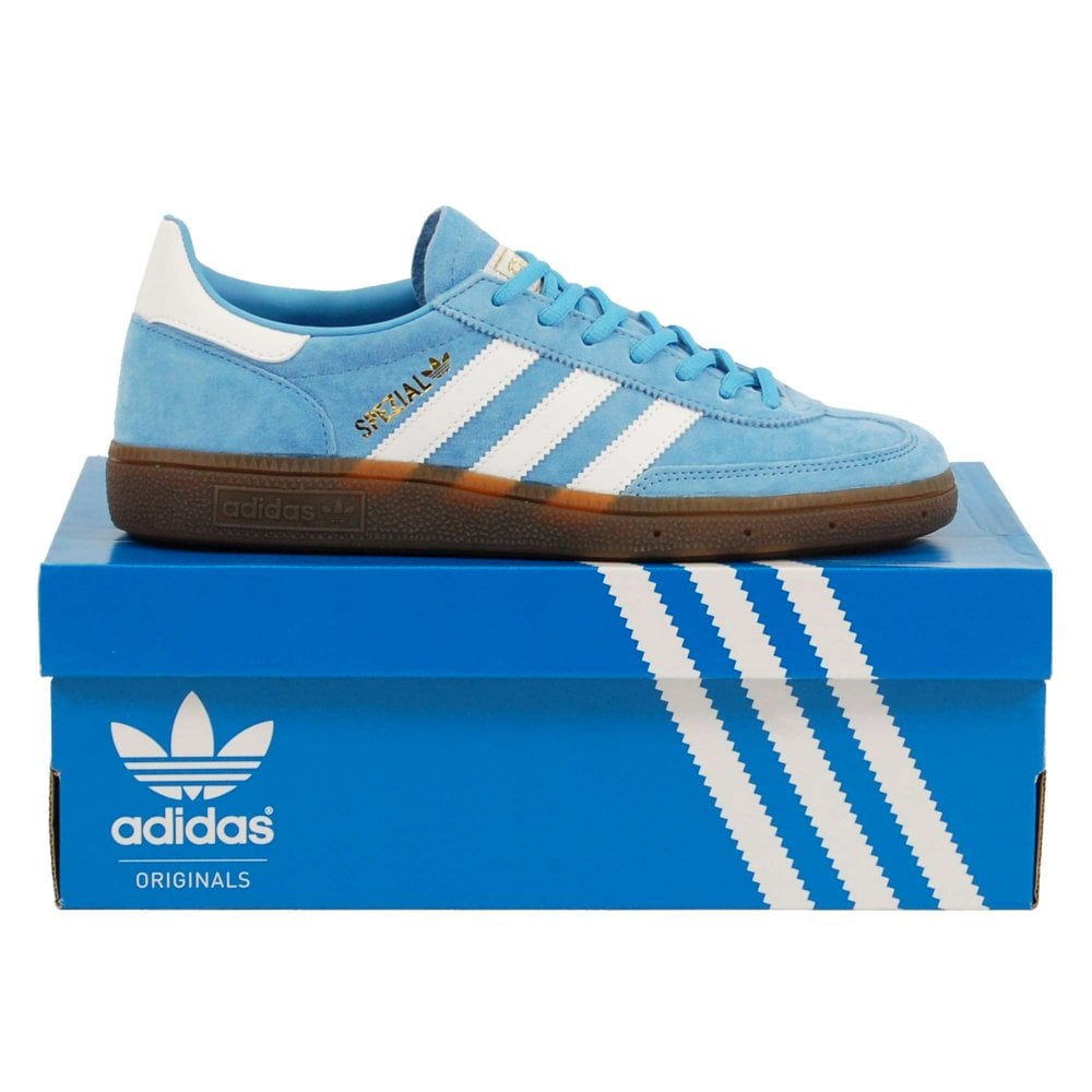 united kingdom new arrivals multiple colors Adidas Originals Handball Spezial Light Blue Footwear White Gum