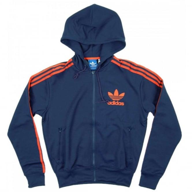 1a1c43cd29 Adidas Originals Hooded Flock Track Hood Dark Indigo - Mens Clothing ...