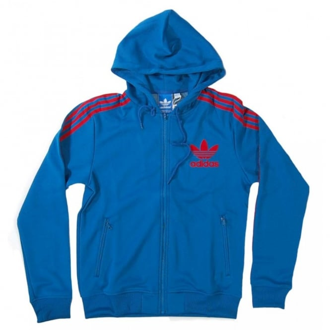 a8129250105630 Adidas Originals Hooded Flock Track Top Royal - Mens Clothing from ...