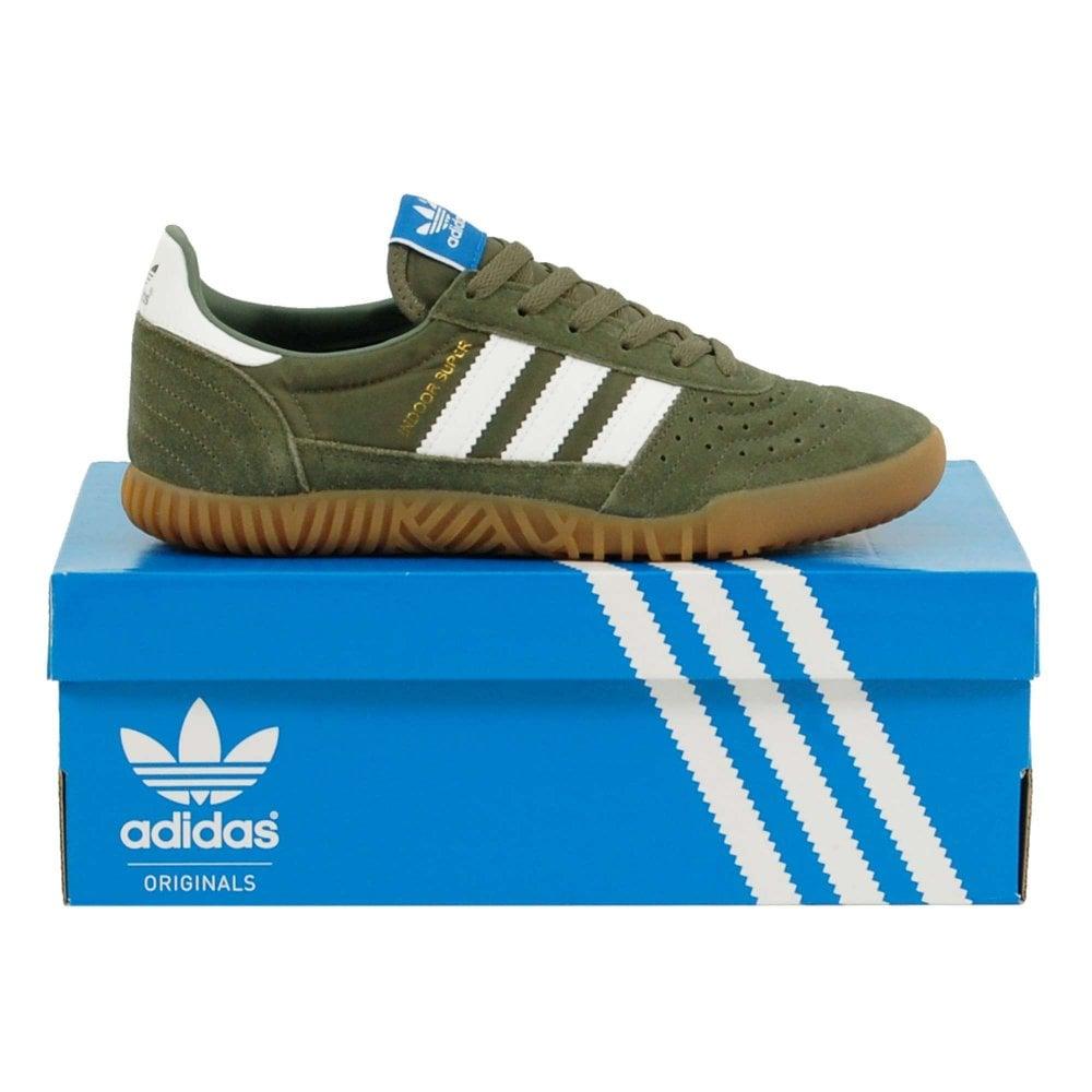 fc5ddf9173e9d9 Adidas Originals Indoor Super Base Green Footwear White Gum - Mens ...