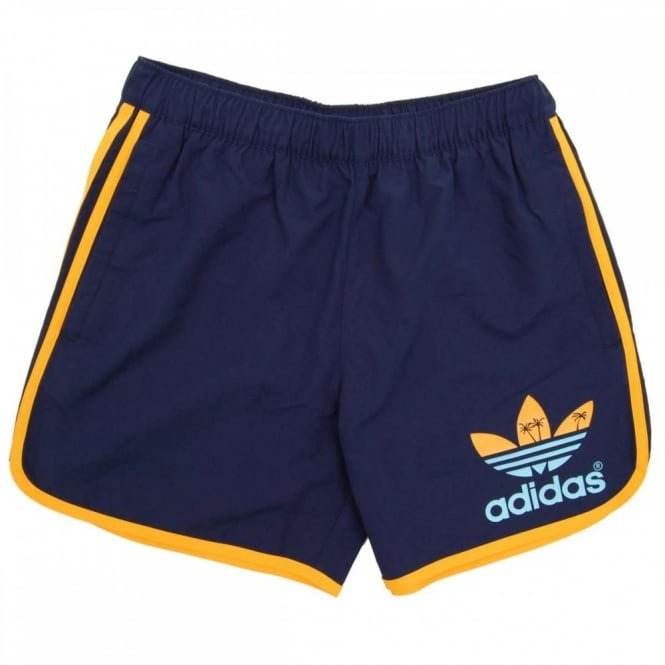 eee804a8cb Adidas Originals Island Escape Swim Shorts Navy - Mens Clothing from ...