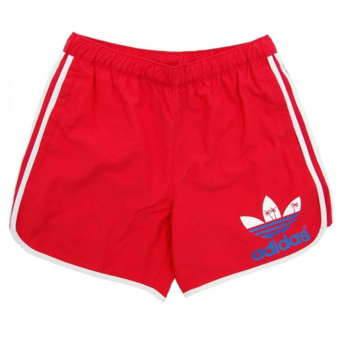 e4f1b3d8ae Adidas Originals Island Escape Swim Shorts Red - Mens Clothing from ...