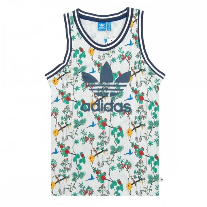 new high quality authorized site the sale of shoes Adidas Originals Island Superstar Summer Jersey Tank White
