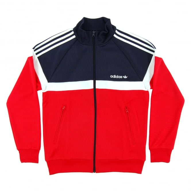 Adidas Originals Itasca Track Top Vivid Red Legend Ink