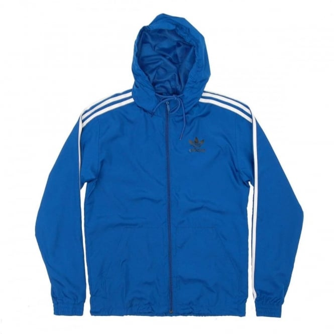 Adidas Originals Itasca Windbreaker Jacket Eqt Blue Mens Clothing