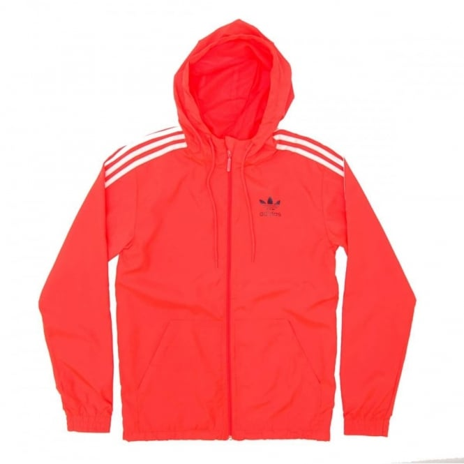 Adidas Originals Itasca Windbreaker Jacket Solar Red Mens Clothing