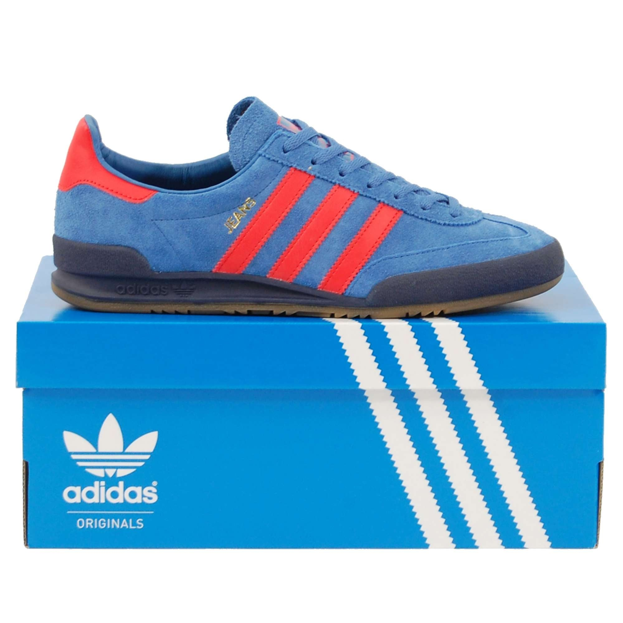 adidas jeans trace royal red
