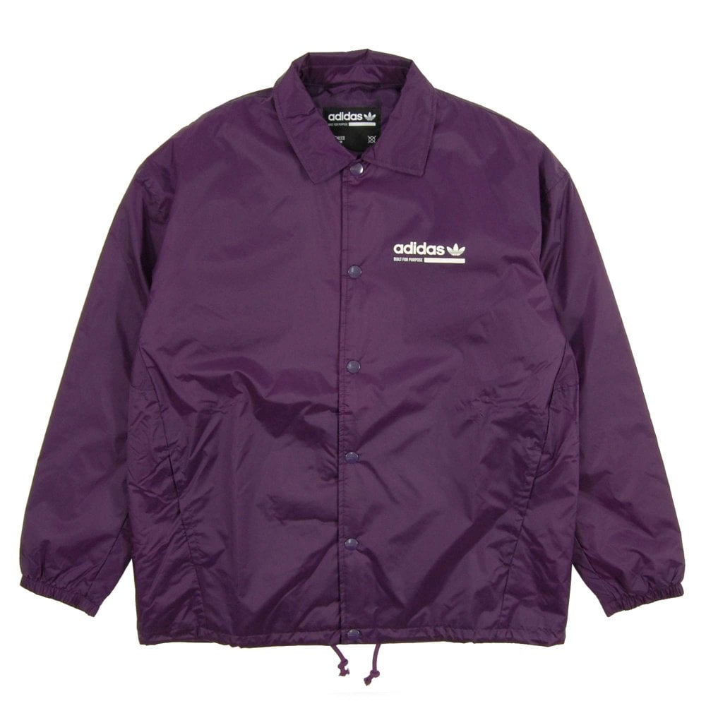 b42a536212 Adidas Originals Kaval Coach Jacket Dark Violet - Mens Clothing from ...