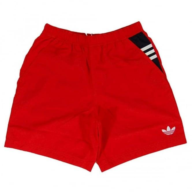 a6d328249a Adidas Originals Leisure Swim Shorts Vivid Red - Mens Clothing from ...