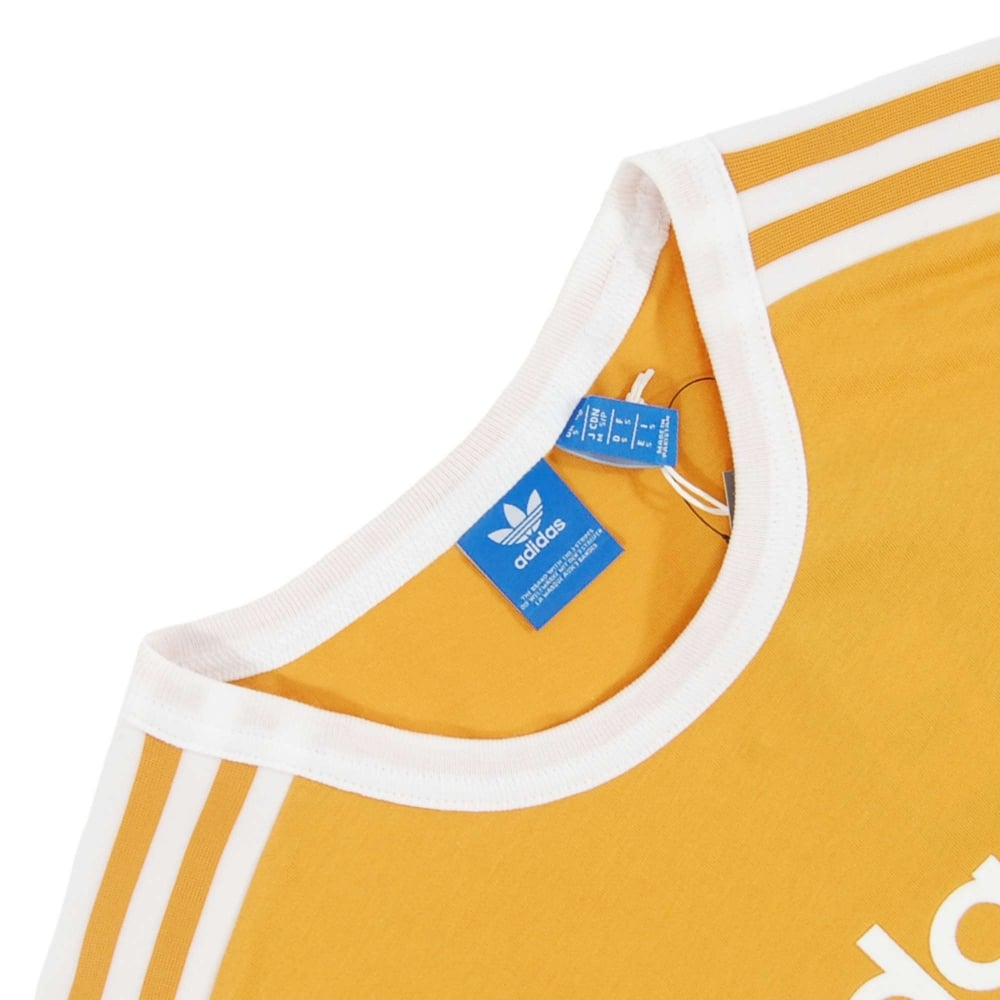b9135e1f Adidas Originals Linear T-Shirt Tactile Yellow - Mens Clothing from ...