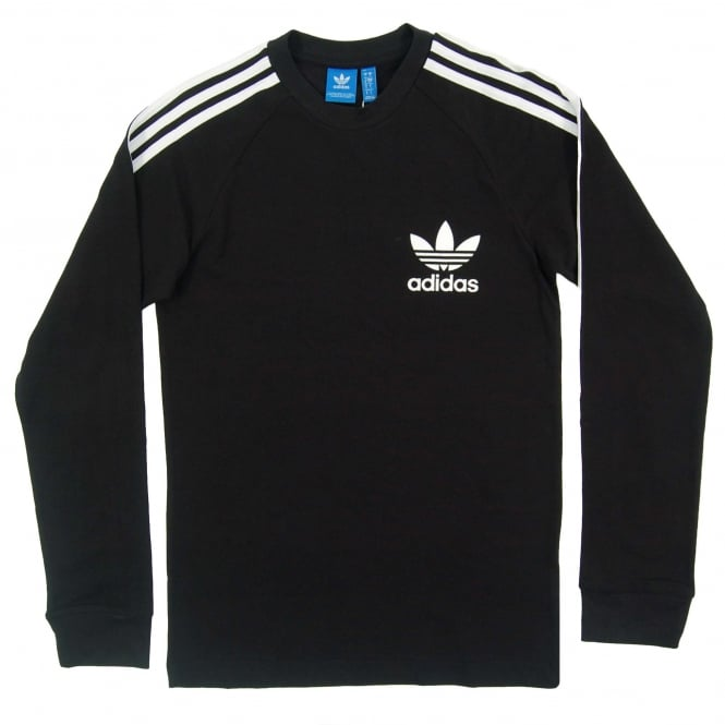 Adidas Originals LS Pique T-Shirt Black White
