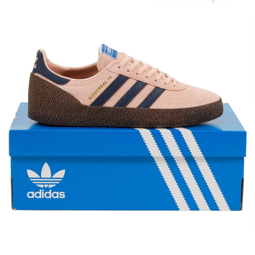 Adidas Originals Montreal 76 Vapour Pink Collegiate Navy Footwear White