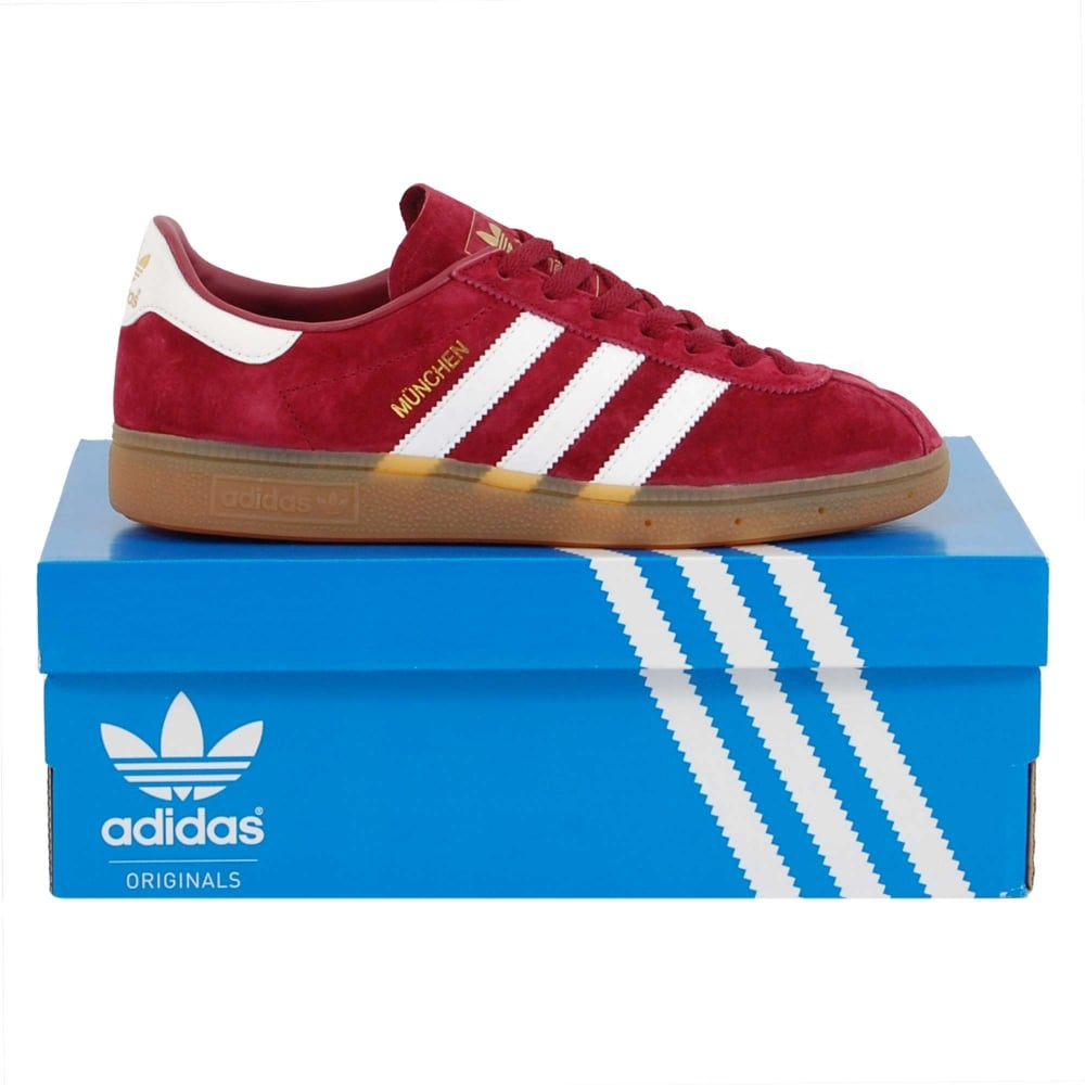 authentic quality in stock discount Adidas Originals Munchen Collegiate Burgundy White Gum