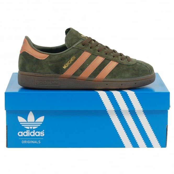 Adidas Originals Munchen Night Cargo Metallic Brown Gum
