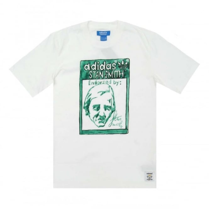 the latest 30115 87f5a Adidas Originals Nigo Stan Smith T-Shirt White