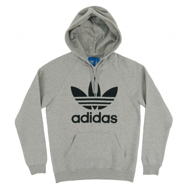 Adidas Originals Original Trefoil Hoody Medium Grey Heather